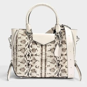 NWT Michael Kors Blakely Snake Embossed Satchel